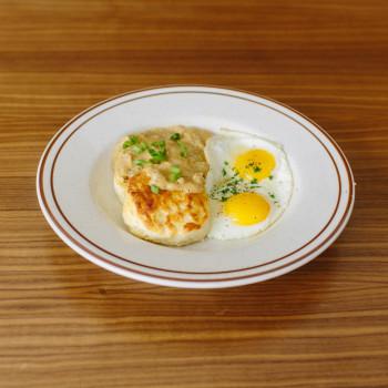 Biscuits & Andouille Gravy $10 Add Free Range Eggs + $2.00